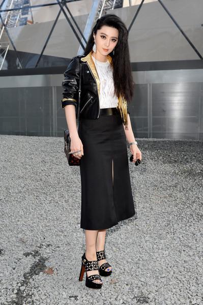Black Louis Vuitton A-line skirt