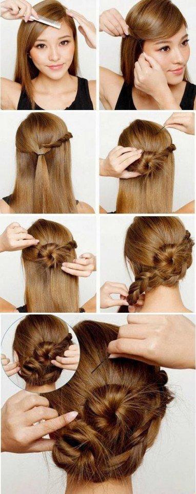 Khopa hairstyle simple Maharashtrian Bridal