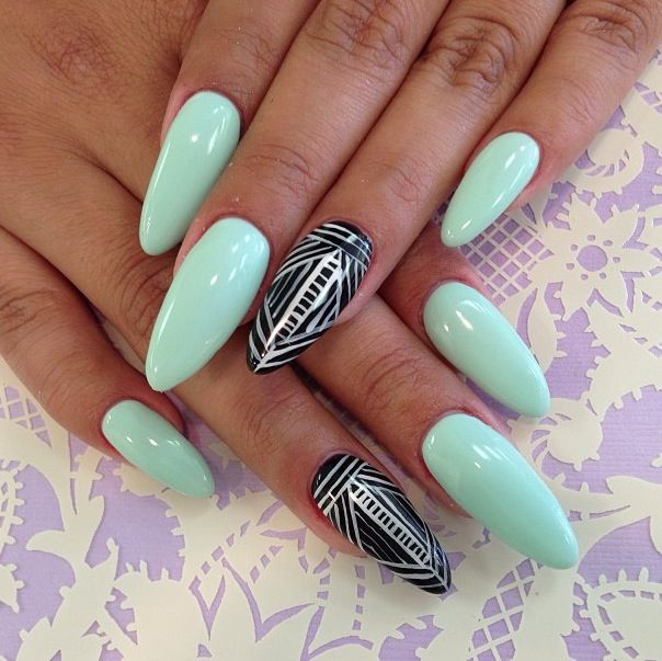 17 fresh and fashionable mint nail designs for summer styles weekly sexy mint nail design prinsesfo Image collections