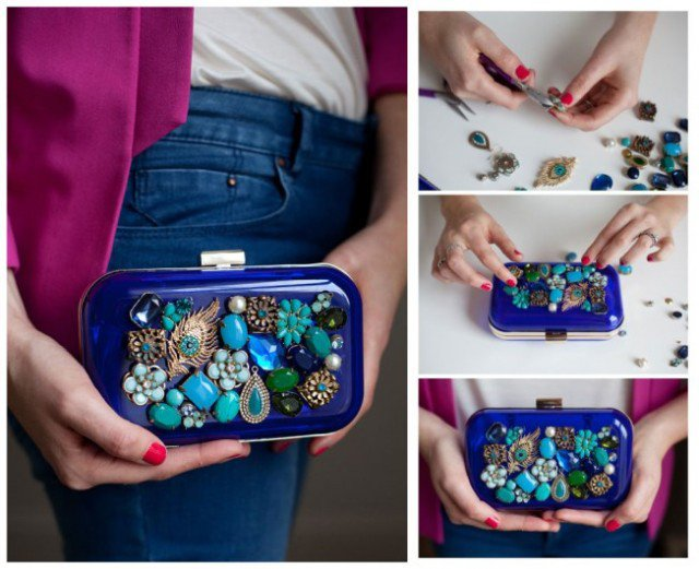 DIY Jewelry Clutch Idea