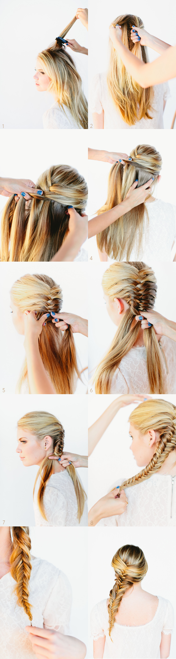 Beautiful Fishtail Braided Hairstyle Tutorial