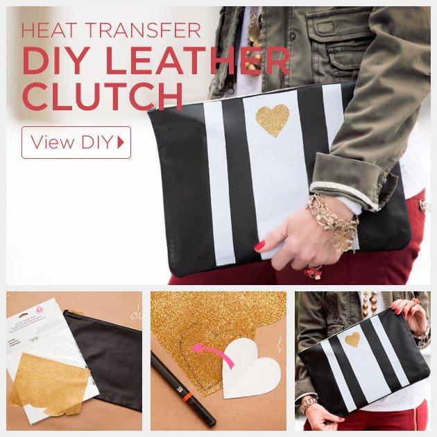 DIY Leather Clutch Idea