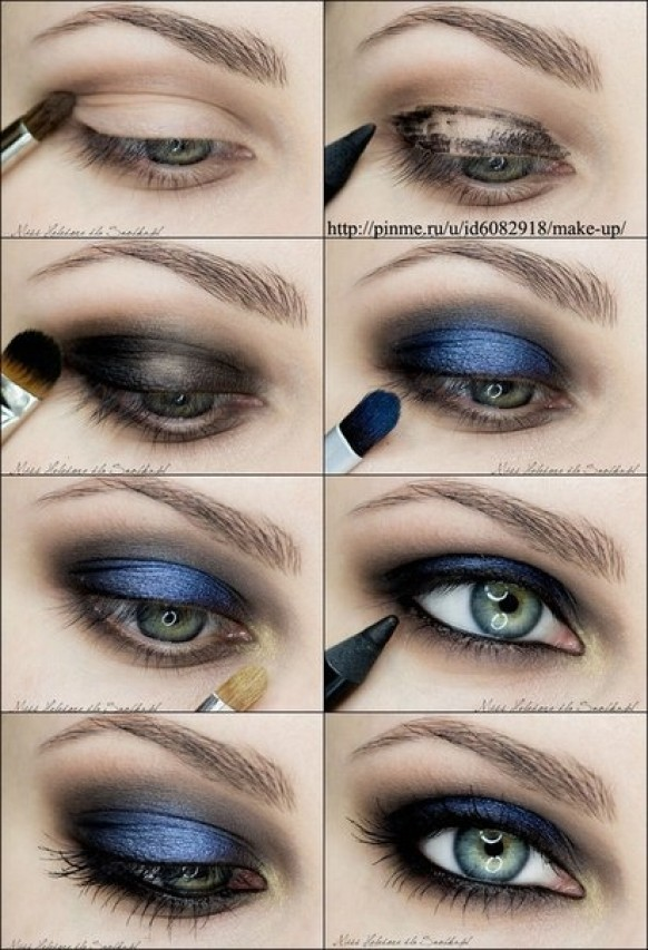 Blue Smoky Eye Makeup Tutorial
