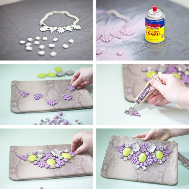 Fashionable Gem Embellished Clutch Idea  sc 1 st  Styles Weekly & 17 Fashionable DIY Ideas to Recreate Your Clutches | Styles Weekly