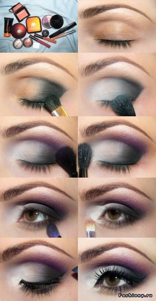 Purple Eyeshadow Tutorial: 20 Fashionable Smoky Purple Eye Makeup Tutorials For All