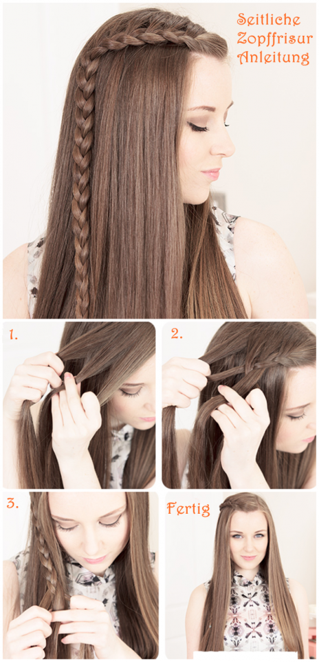 Simple Braided Bangs Hairstyle Tutorial