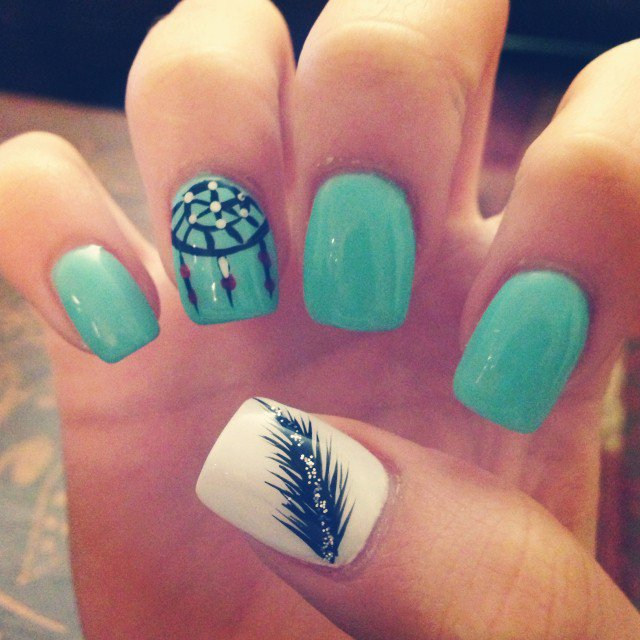 Cute Mint Nail Design