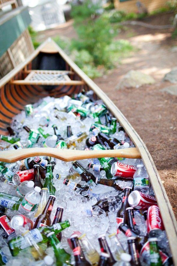 A boat cooler