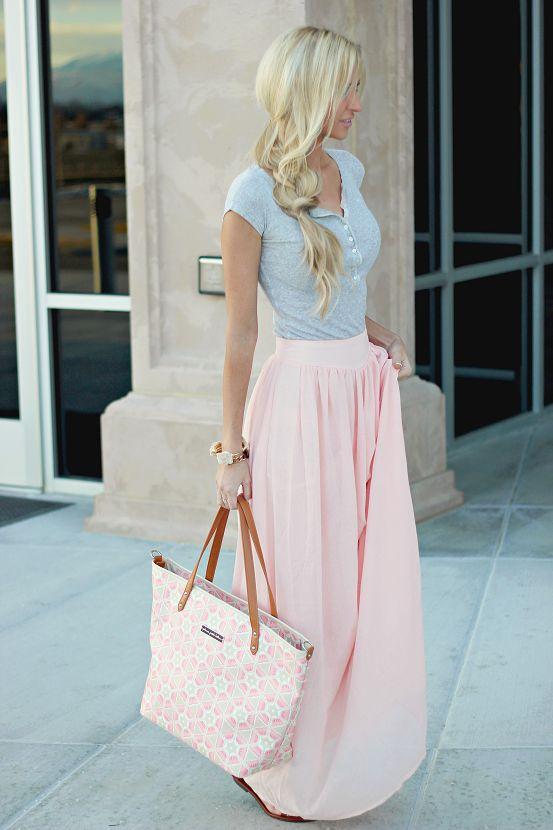 A chiffon maxi skirt