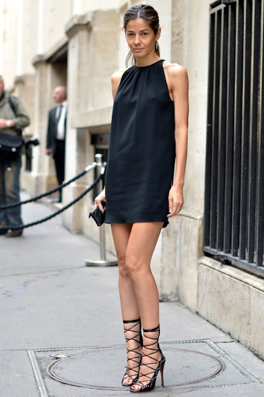 A cute and easy black dress