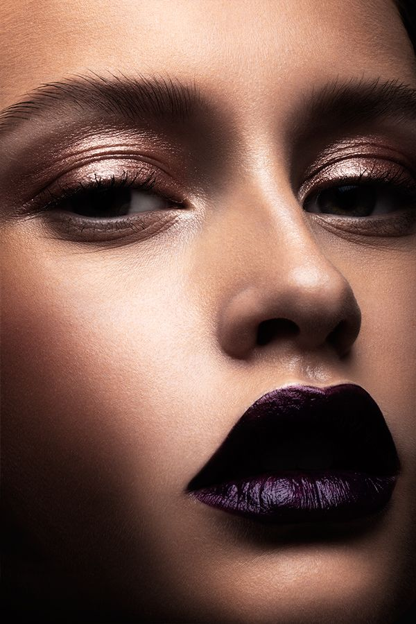 A dark lipstick