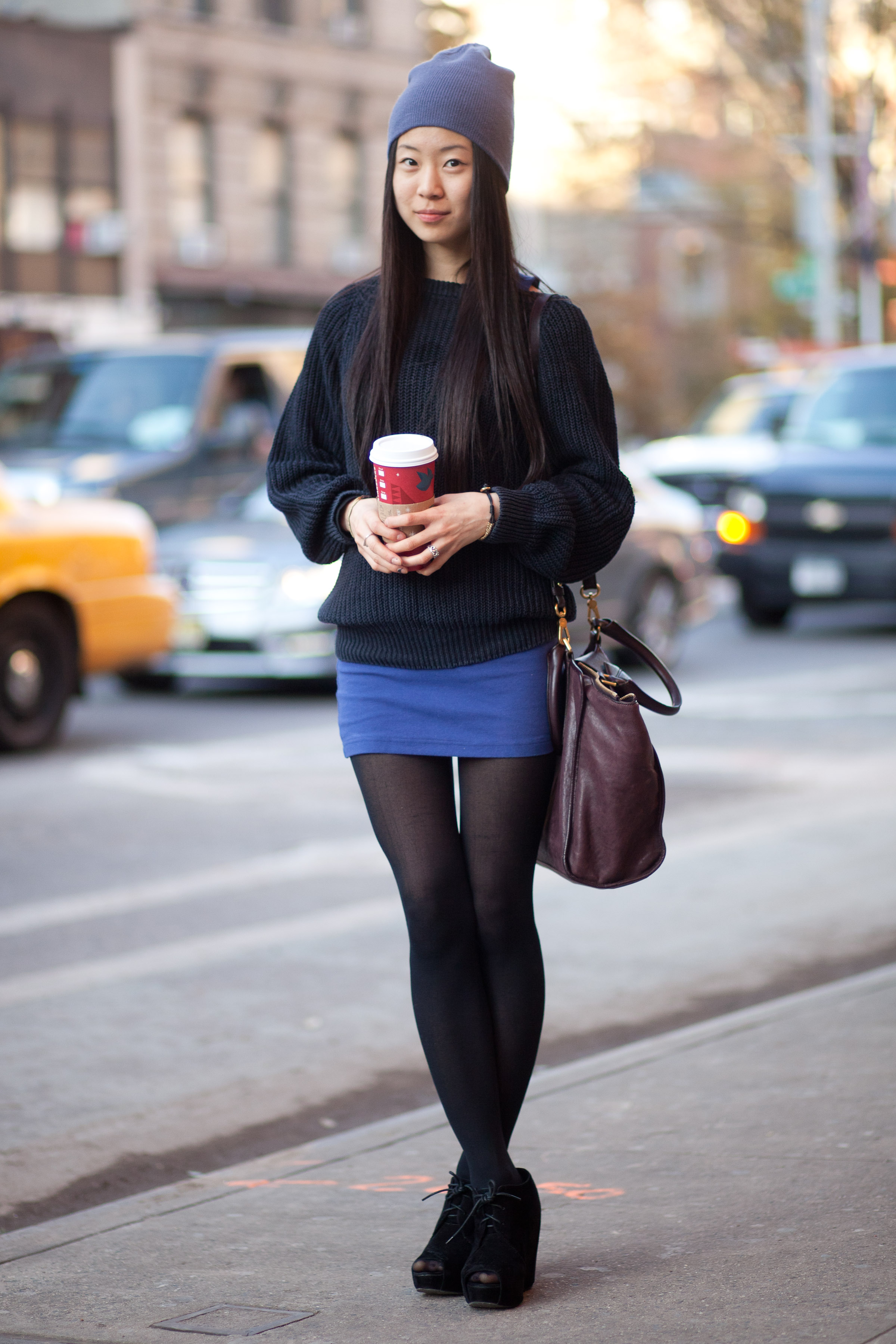 A mini skirt (and tights)