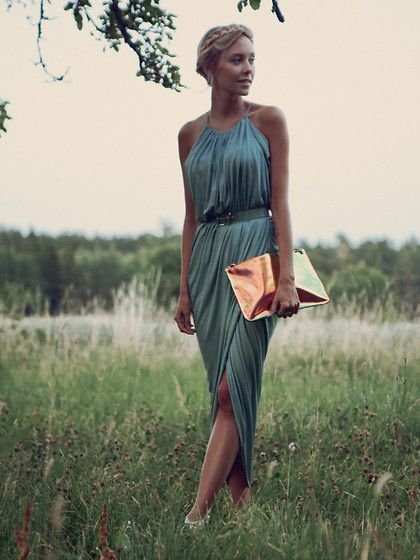 A pleated wrap dress