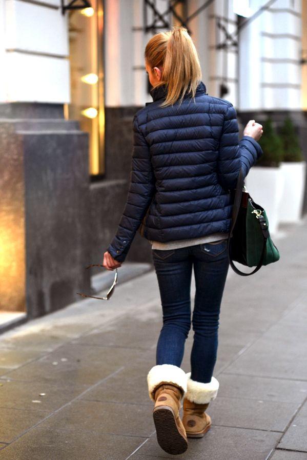 A puffer coat