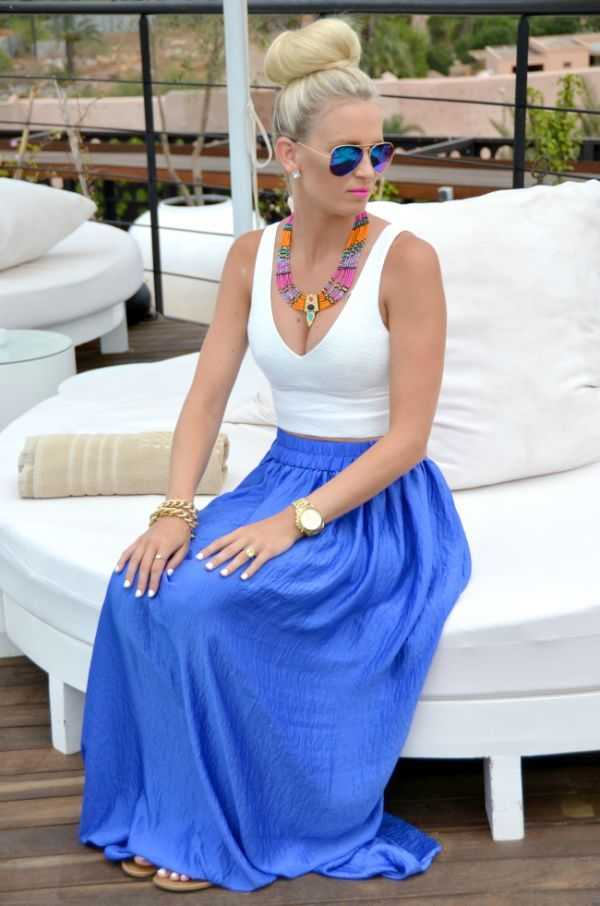 A tank and a maxi skirt