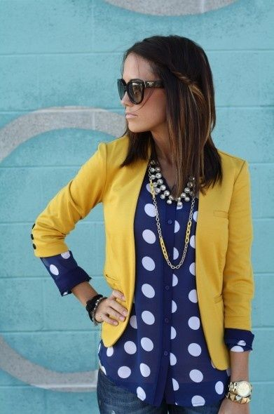 A yellow blazer