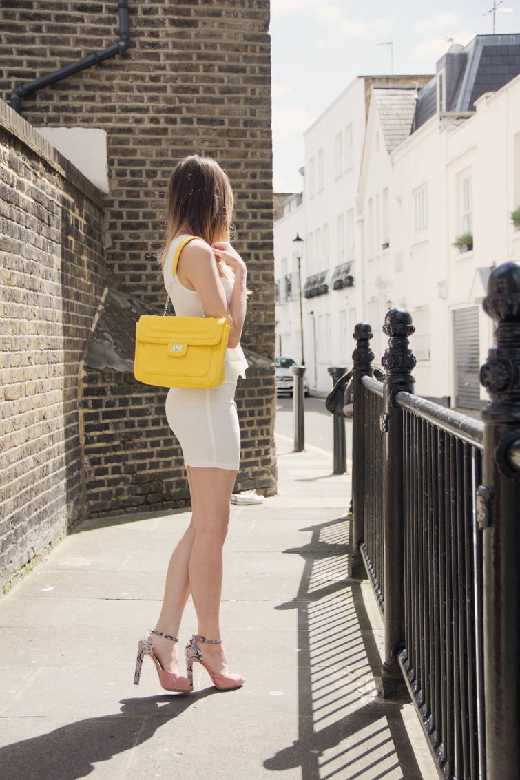 A yellow purse