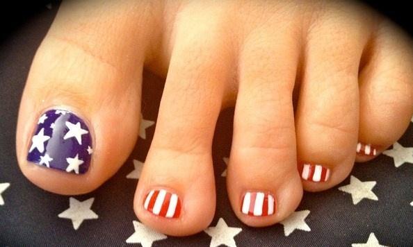 'American Flag' feet