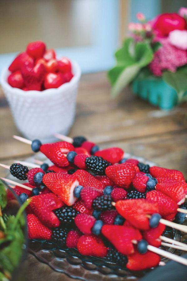 Berry kabobs