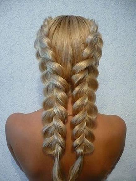 Big fishtail plaits