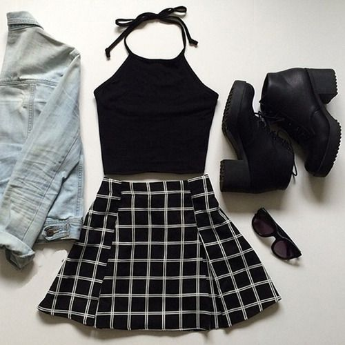 Black and white grunge look