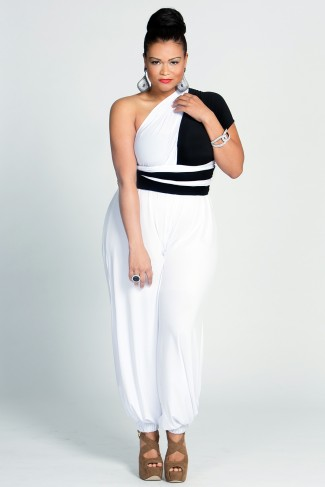 Black-and-white jumpsuit