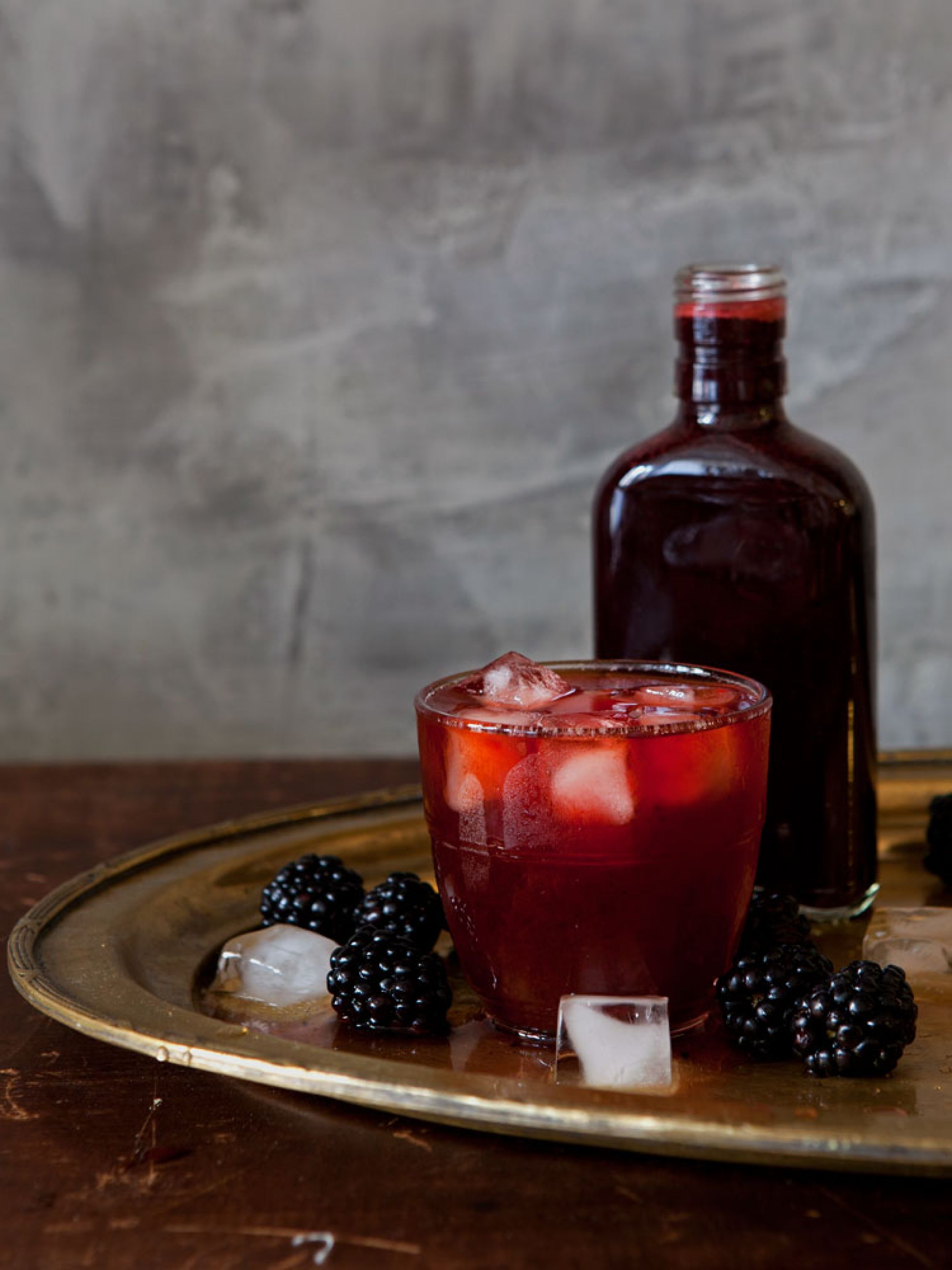 Blackberry Rum Shrub