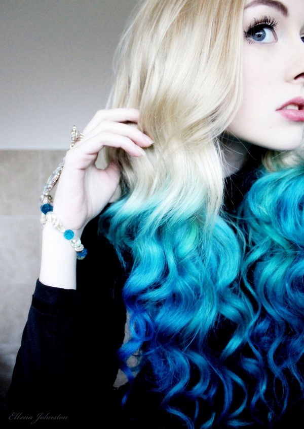 20 hot color hair trends styles weekly blue wave tips urmus Choice Image