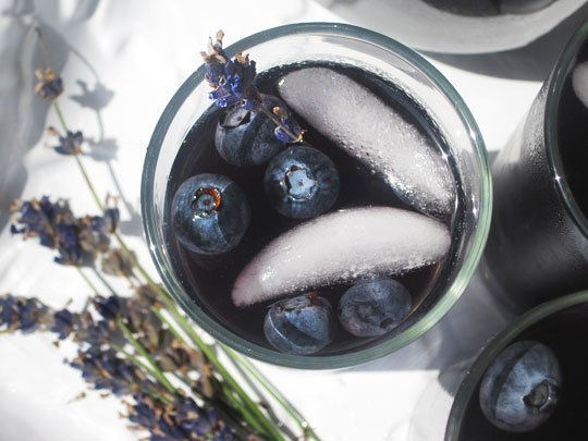 Blueberry Lavender Vodka Cocktail
