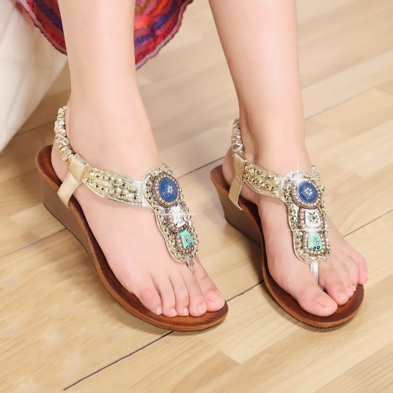 Bohemian flat sandals