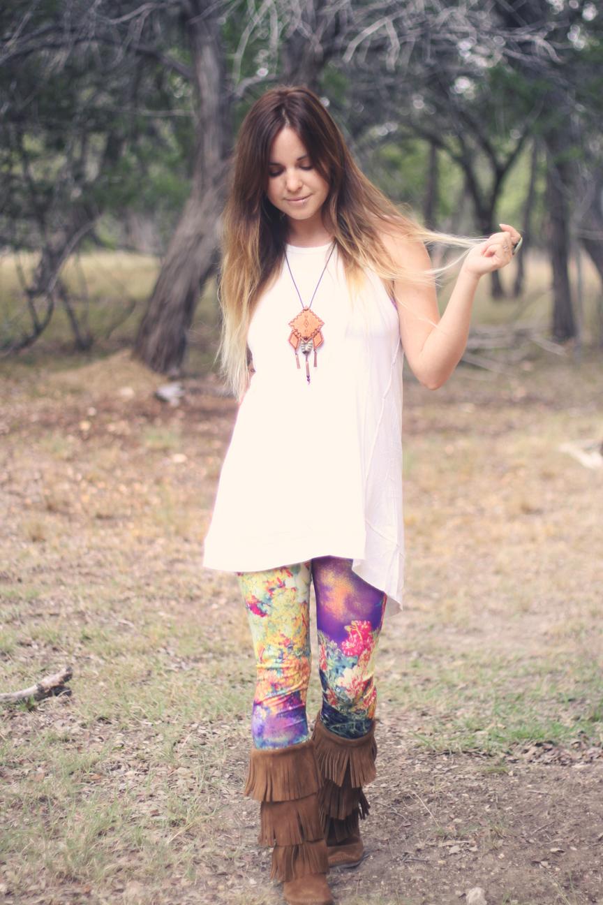 Bohemian style leggings
