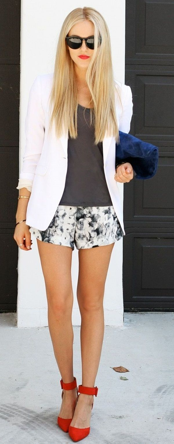 Business casual-style shorts