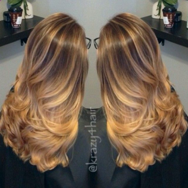 25 hottest ombre hair color ideas right now styles weekly - Balayage braun caramel ...