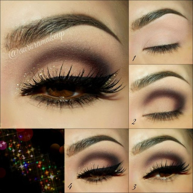 Chic Shimmer Eye Makeup Idea