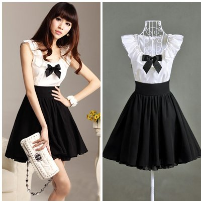 Cute black and white party dress