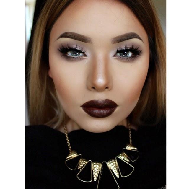 Deep and dark lips
