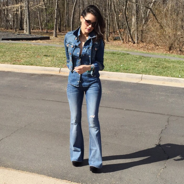 Denim on top of denim