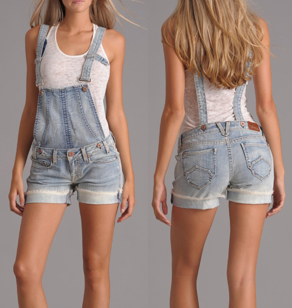 Denim overalls (shorts)