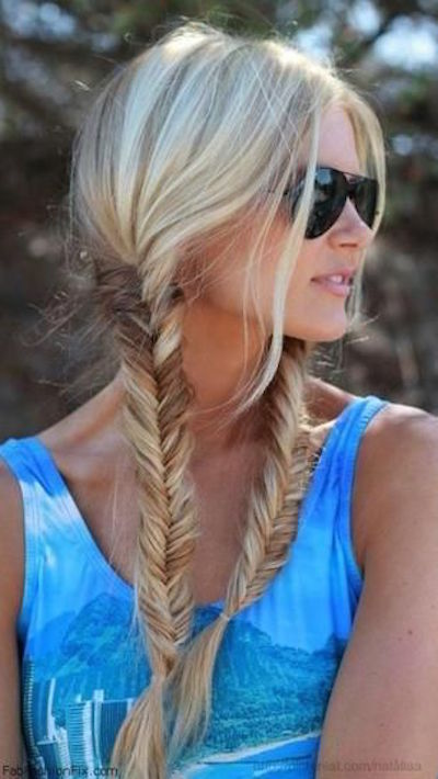 Double fistail braids