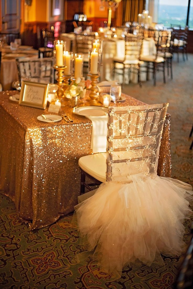 'Dress' for bride's chair