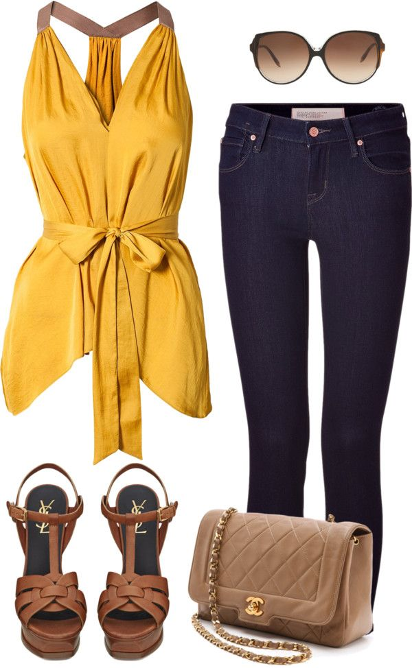 Dressy casual (in yellow)