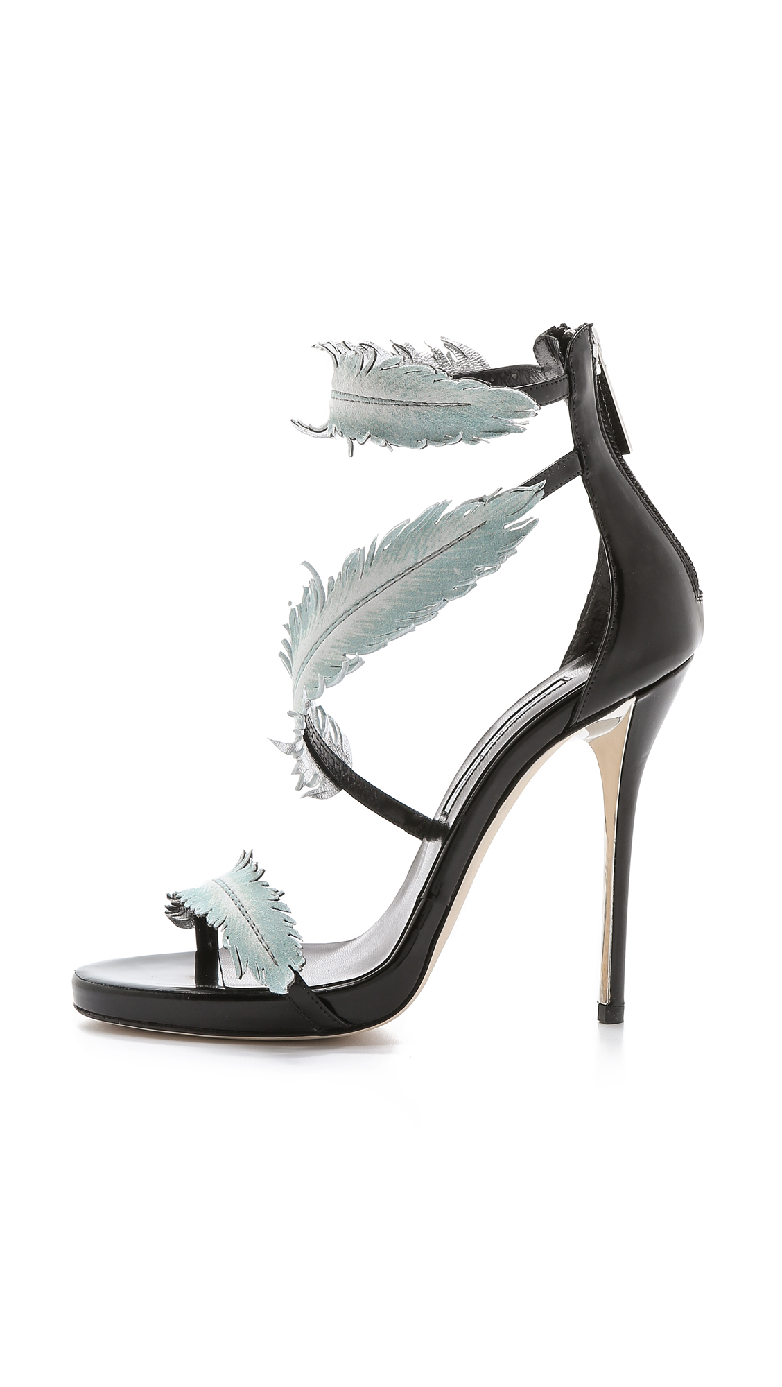 Feathered stilettos