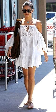 Feminine in white cotton