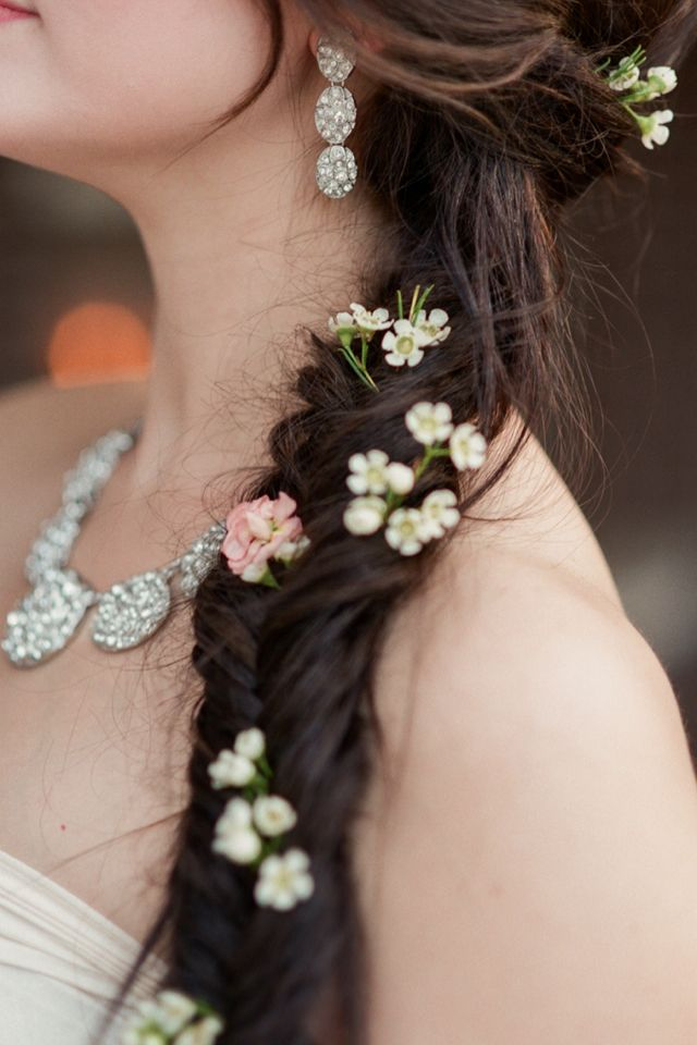 Fishtail and flowers