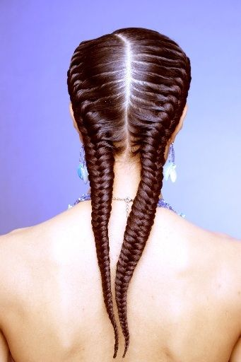 Fishtail cornrows