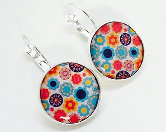 Floral earrings (retro)
