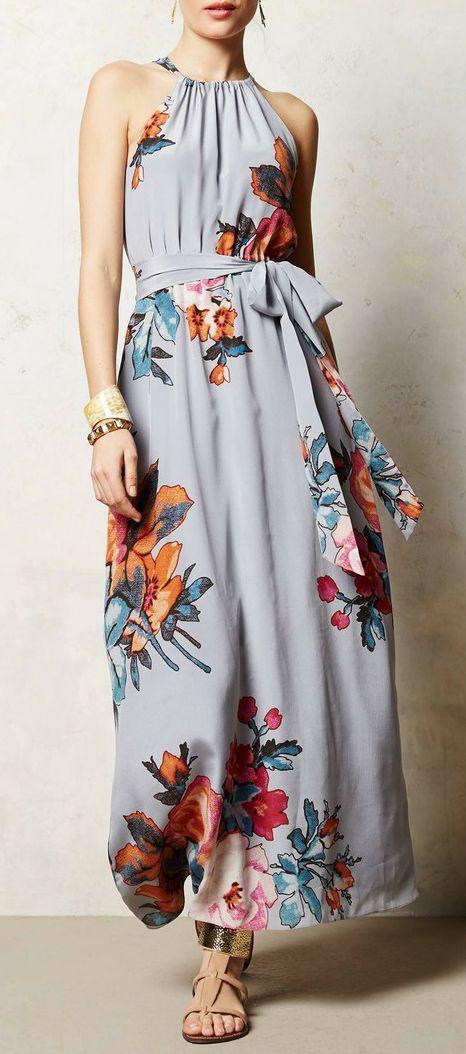 Floral halter dress
