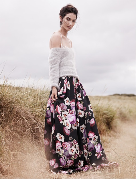 Silk Floral Maxi Skirt - Dress Ala