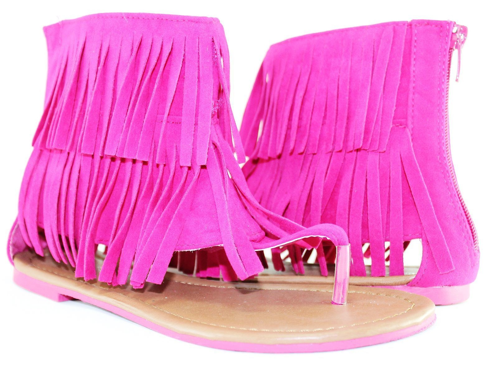 Fringe (flat) sandals