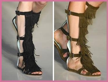 Fringe (gladiator) sandals